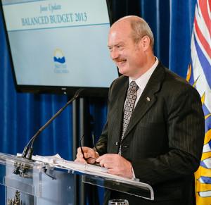 Finance Minister Mike de Jong.