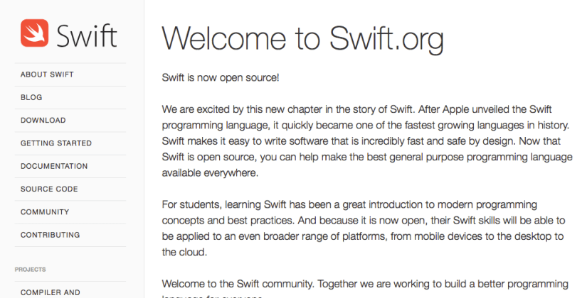 Apple Open Sources Swift