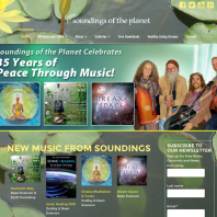 Web Design - Soundings of the Planet Music