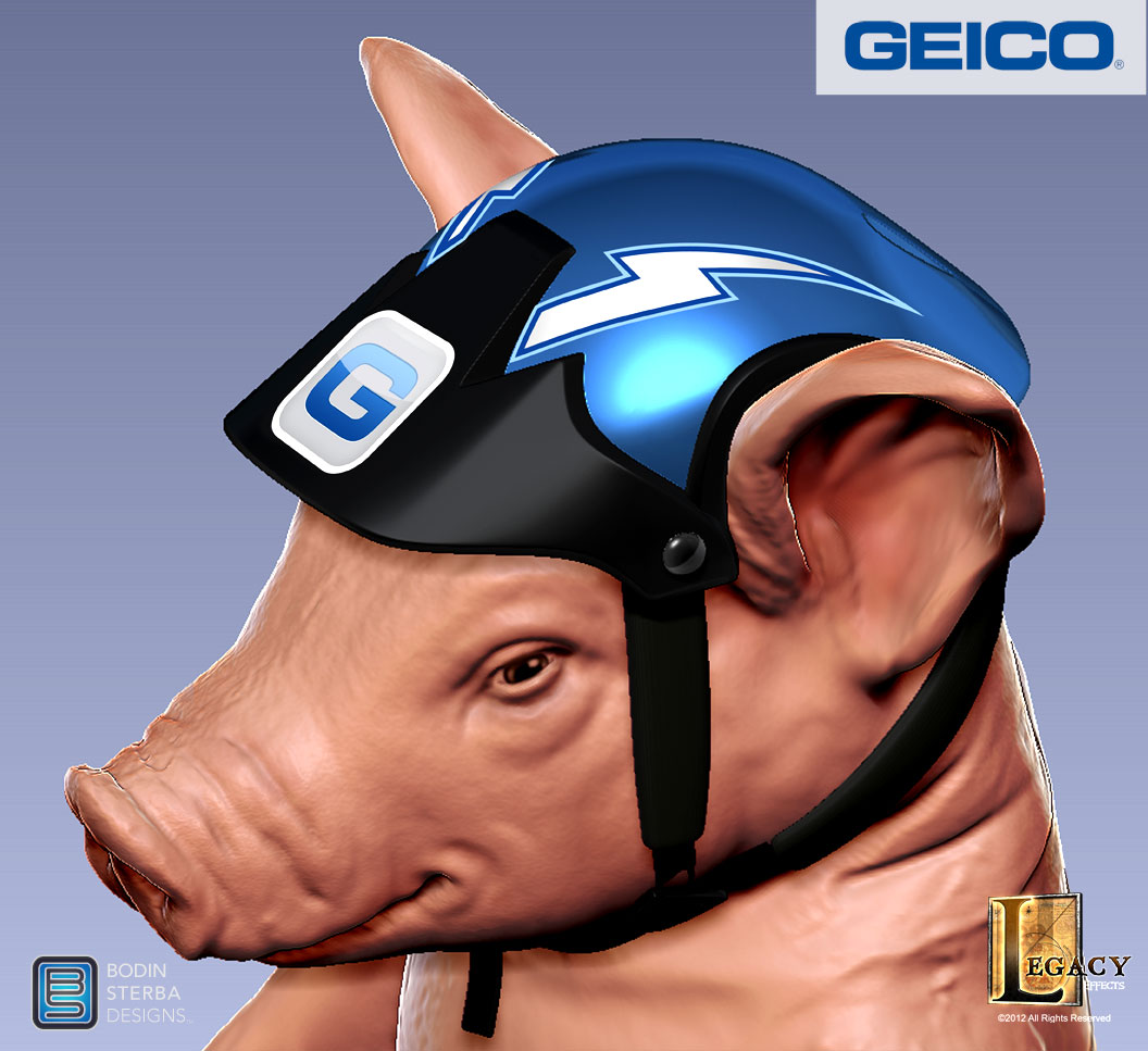 Geico Piggy Luge Helmet