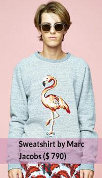 Flamingo-print-sweatshirt-by-Marc-Jacobs