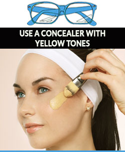 Use-concealer-with-yellow-tones-when-wearing-glasses