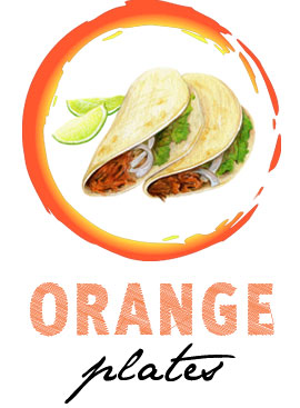 Orange-food-plates-cause-overeating
