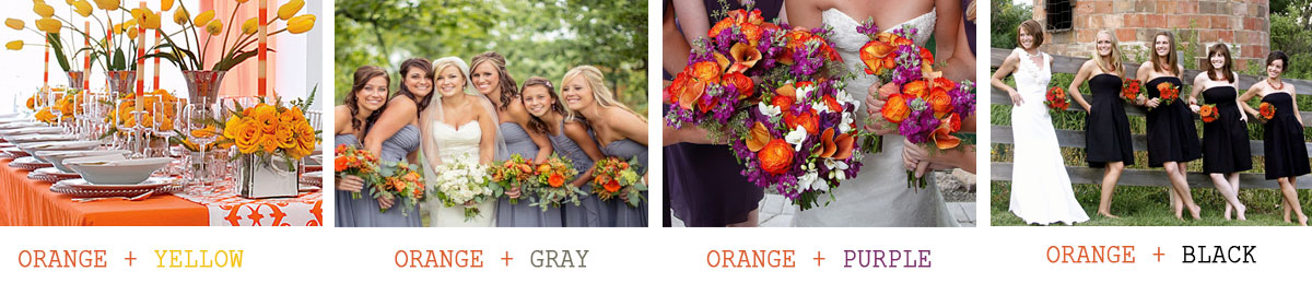 Orange-wedding-theme-color-combinations