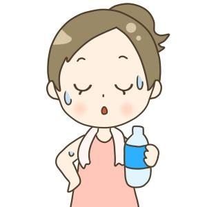 運動不足により汗腺が衰えてしまう
