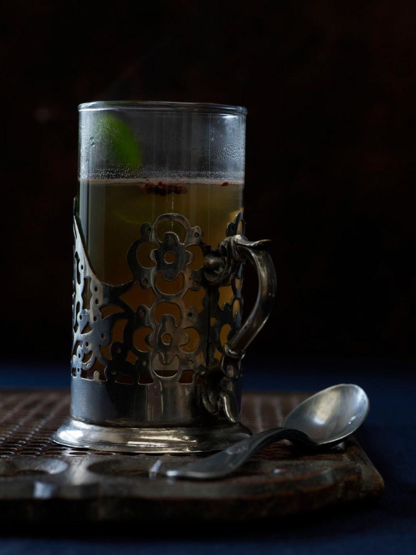 Coca nib mint tea