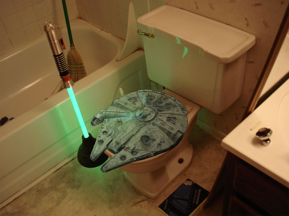 millennium falcon toilet seat why isn 39 t this real boing boing. Black Bedroom Furniture Sets. Home Design Ideas