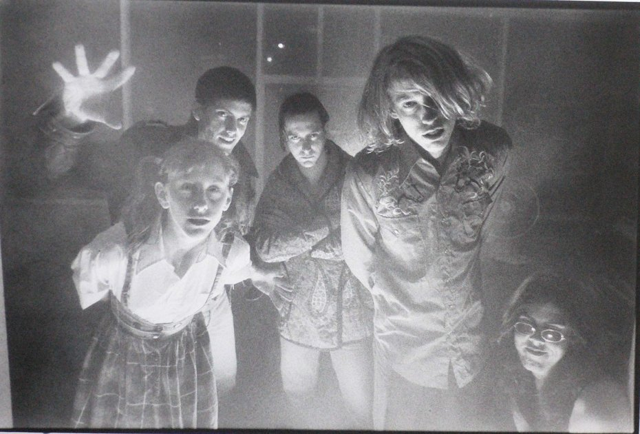 Butthole Surfers, mid-1980s. Photographer unknown. This was the lineup when I saw them live in Richmond, VA, with drummer Teresa Nervosa.