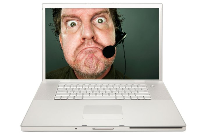 """Grumpy Tech Support Man,"" a stock photograph from Shutterstock.com that seemed appropriate."