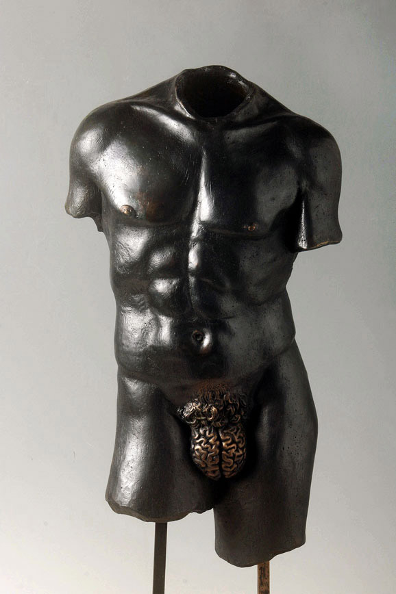 Racional: Male Sculpture with 'Brain Genitalia,' Yoan Capote.