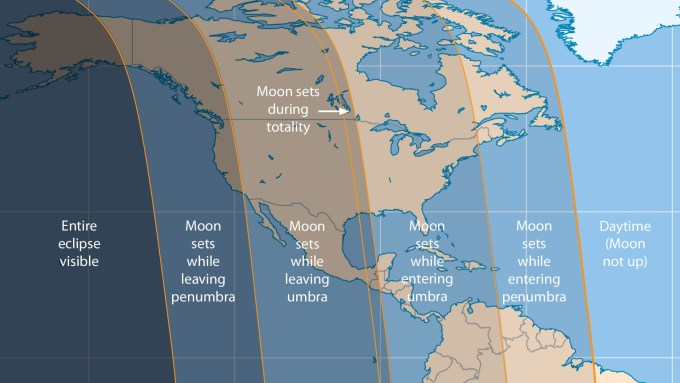 April 2015 lunar eclipse visibility, Sky and Telescope illustration