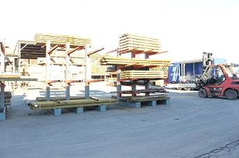 Rack de stockage bois de construction