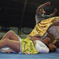 In the wrestling rings of Bolivia, skirts fly as cholitas fight back!