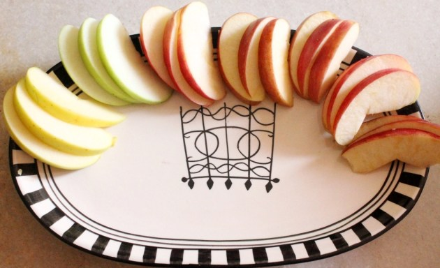 The apple tasting platter