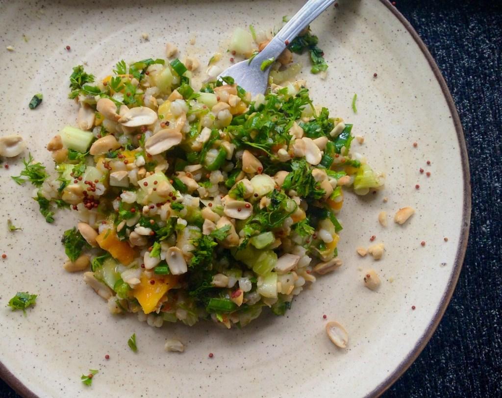 barley mango salad