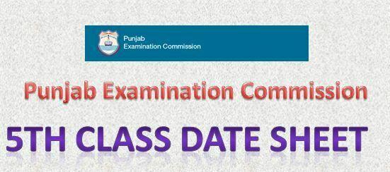 PEC 5th Class Date Sheet 2016