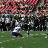 Davis Plowman of East Carolina connects on a 40-yard field goal for the first points of the game on Saturday.