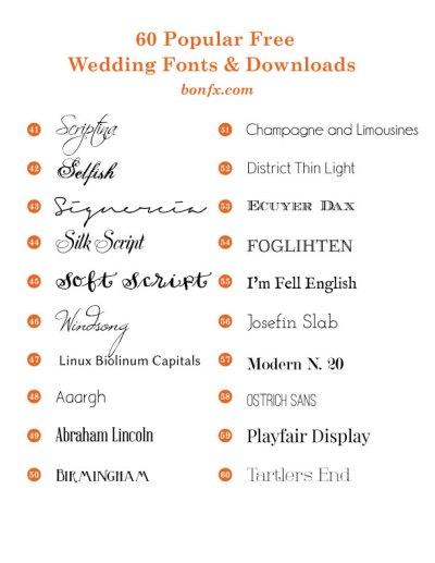 60 Popular Free Wedding Fonts | BonFX
