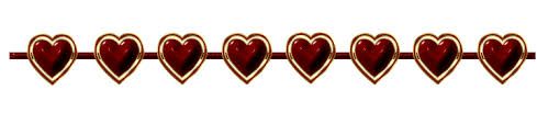 red heart divider