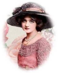 Edwardian Lady Oval Free Use