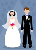 Wedding Couple Cartoon Free Use