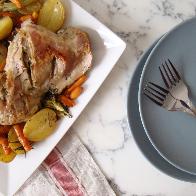 Roasted Turkey Leg with Vegetables