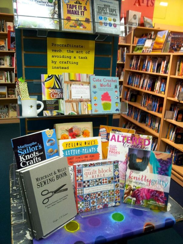 Procraftinate Display | Porter Square Books, Cambridge, MA