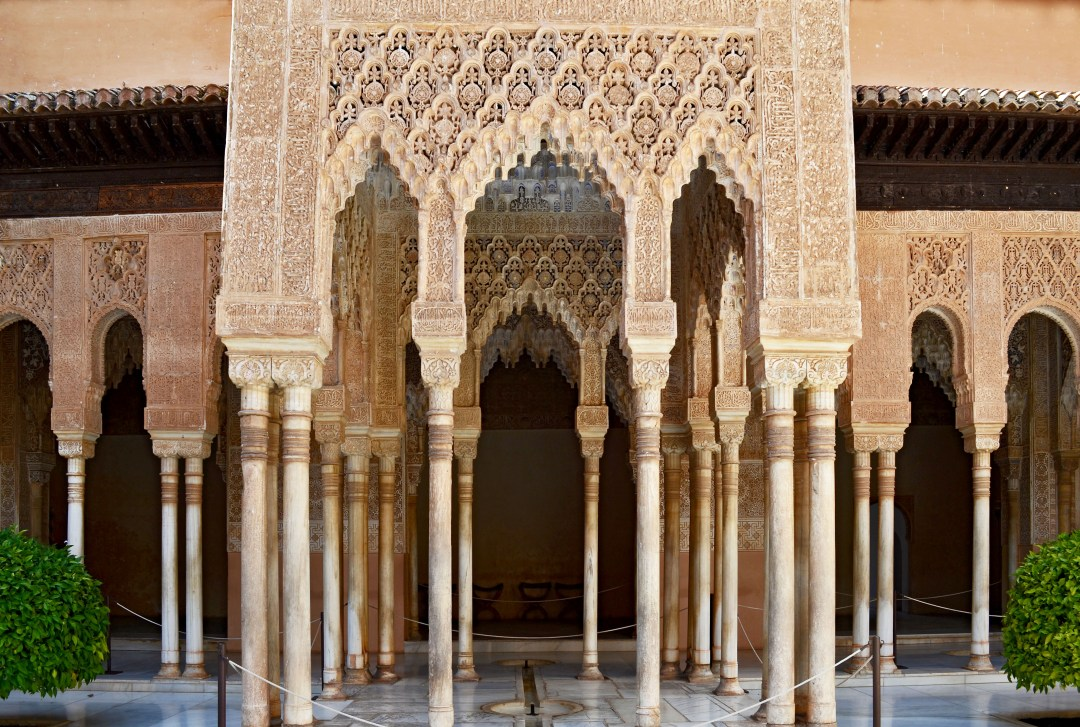 Lion Courtyard setting for John Singer Sargent Alhambra painting