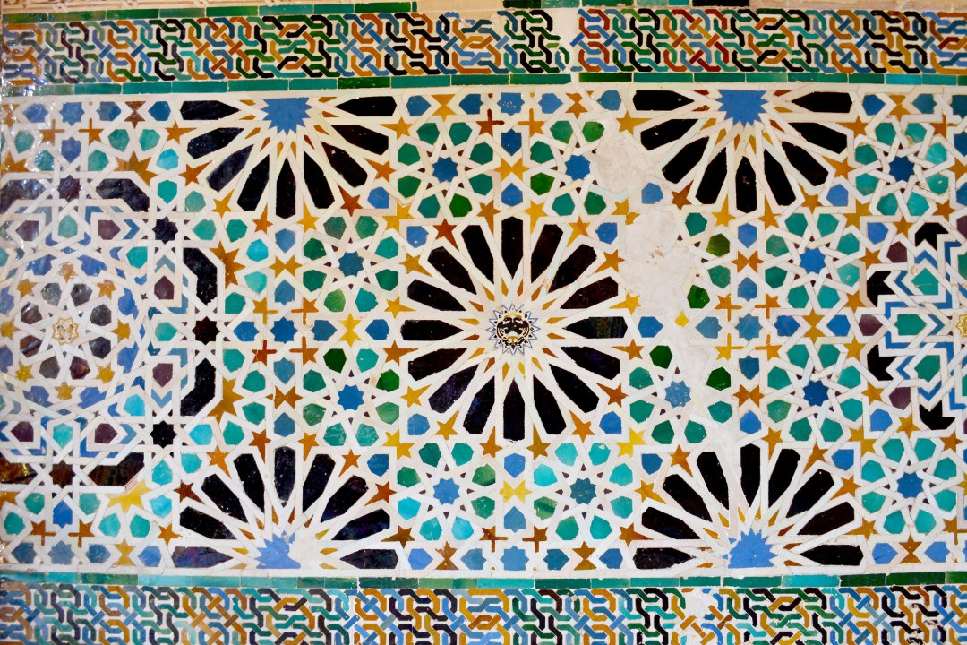 Tiles at the World Heritage Alhambra that inspired Escher