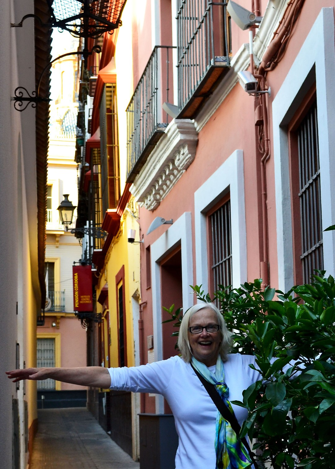 Narrow streets in Seville