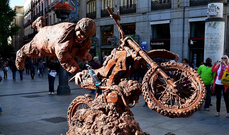 Street Performer in Madrid
