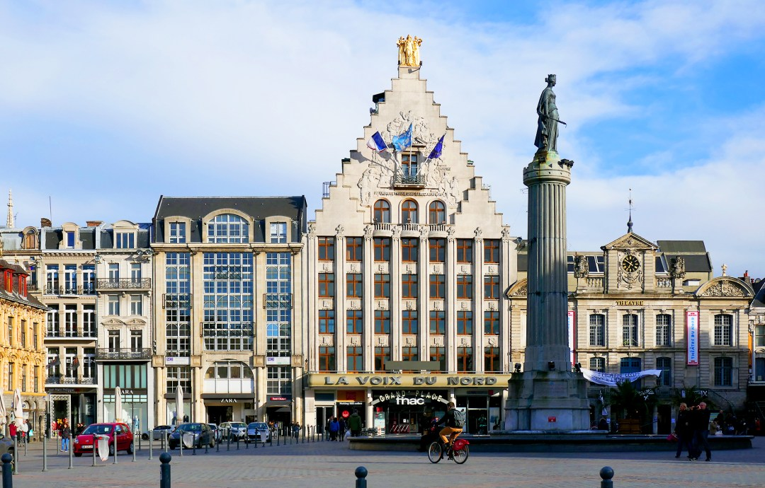 Lille city hall in main square
