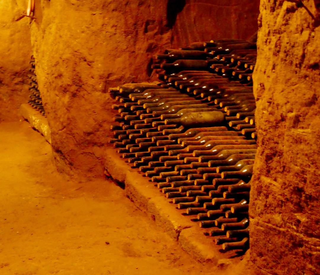 Wine cellar in Tuscany with boomervoice.ca