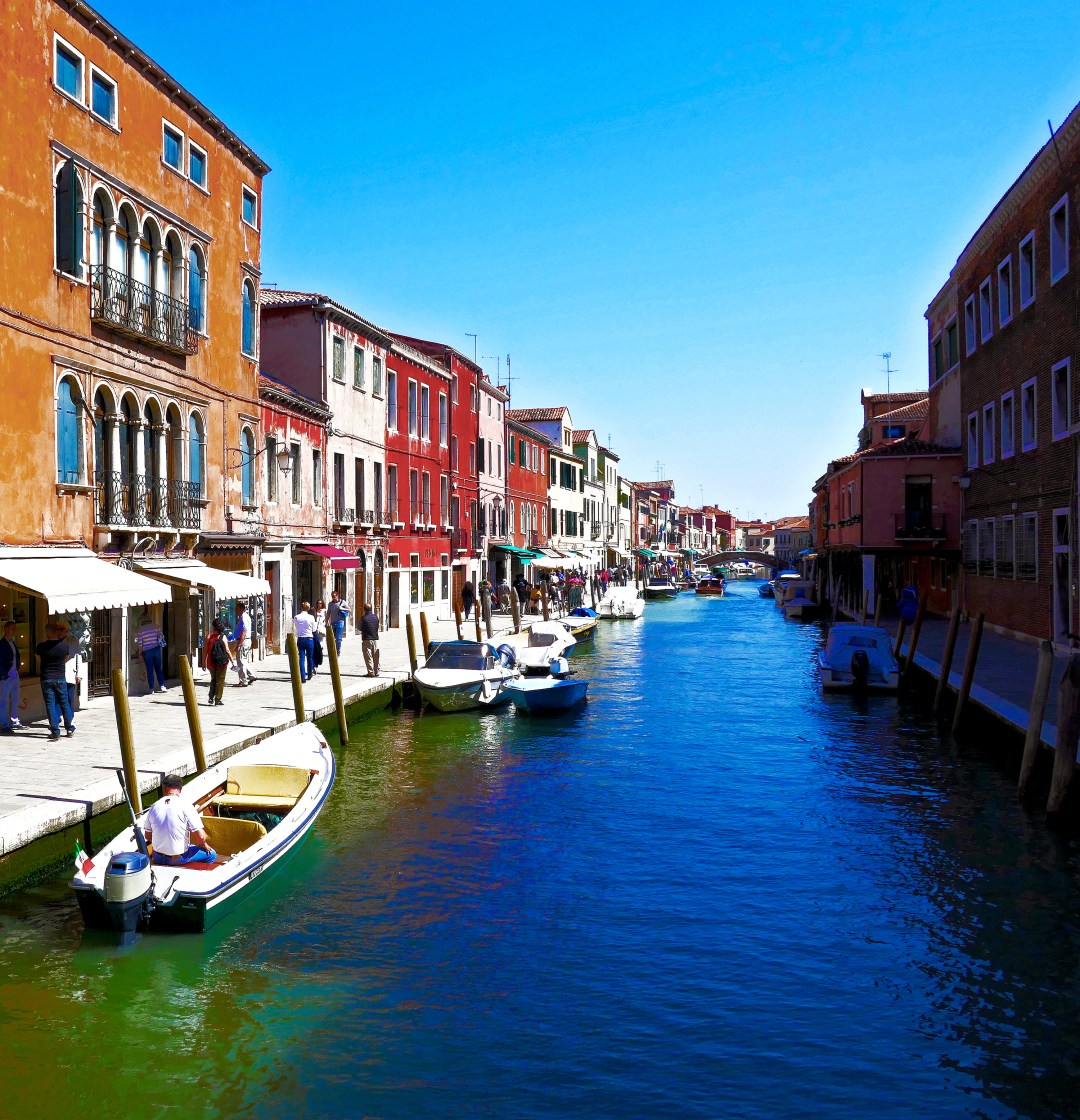 Canal on Murano Island in Venice