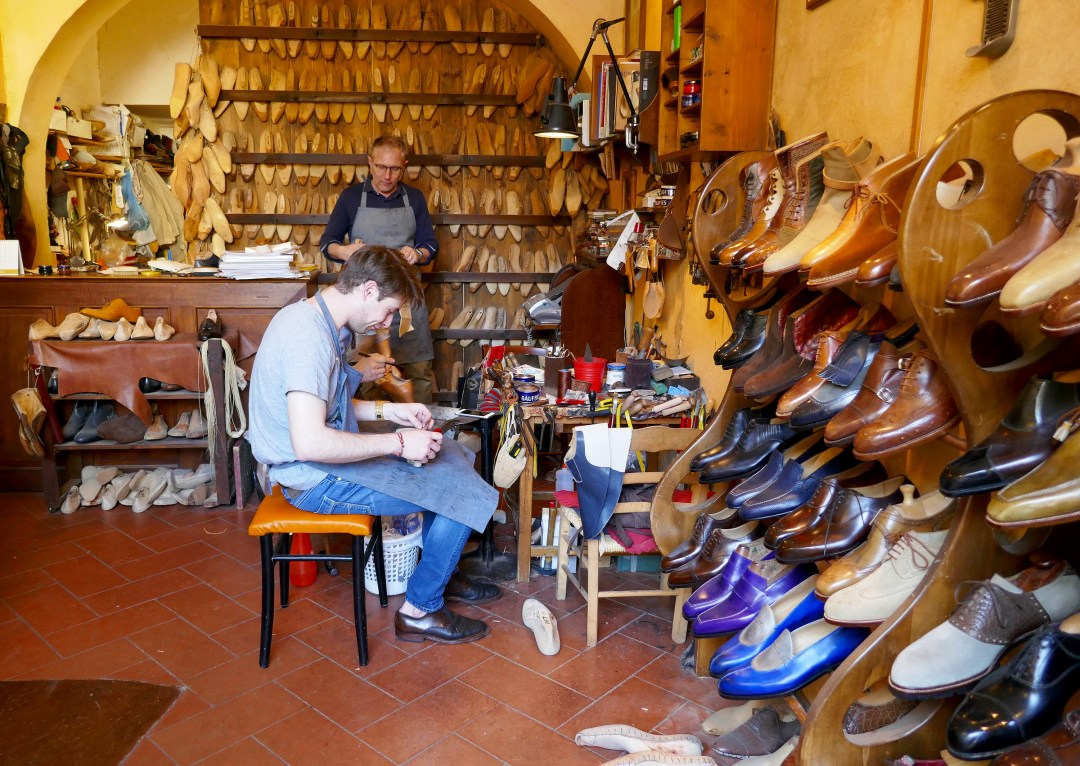 Hand made shoe shop in Florence
