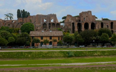 Palace ruins on Palatine Hill in Rome