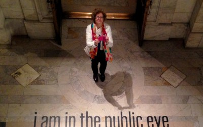 I am in the public eye in the New York Public Library