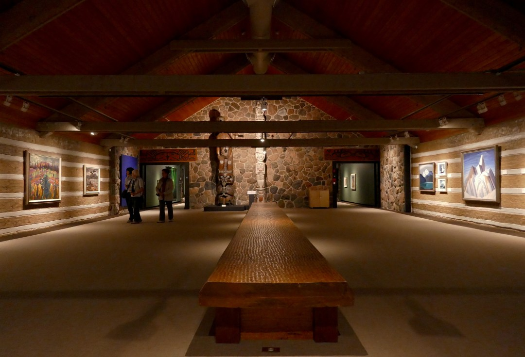 Upper gallery in McMichael Canadian Art Collection