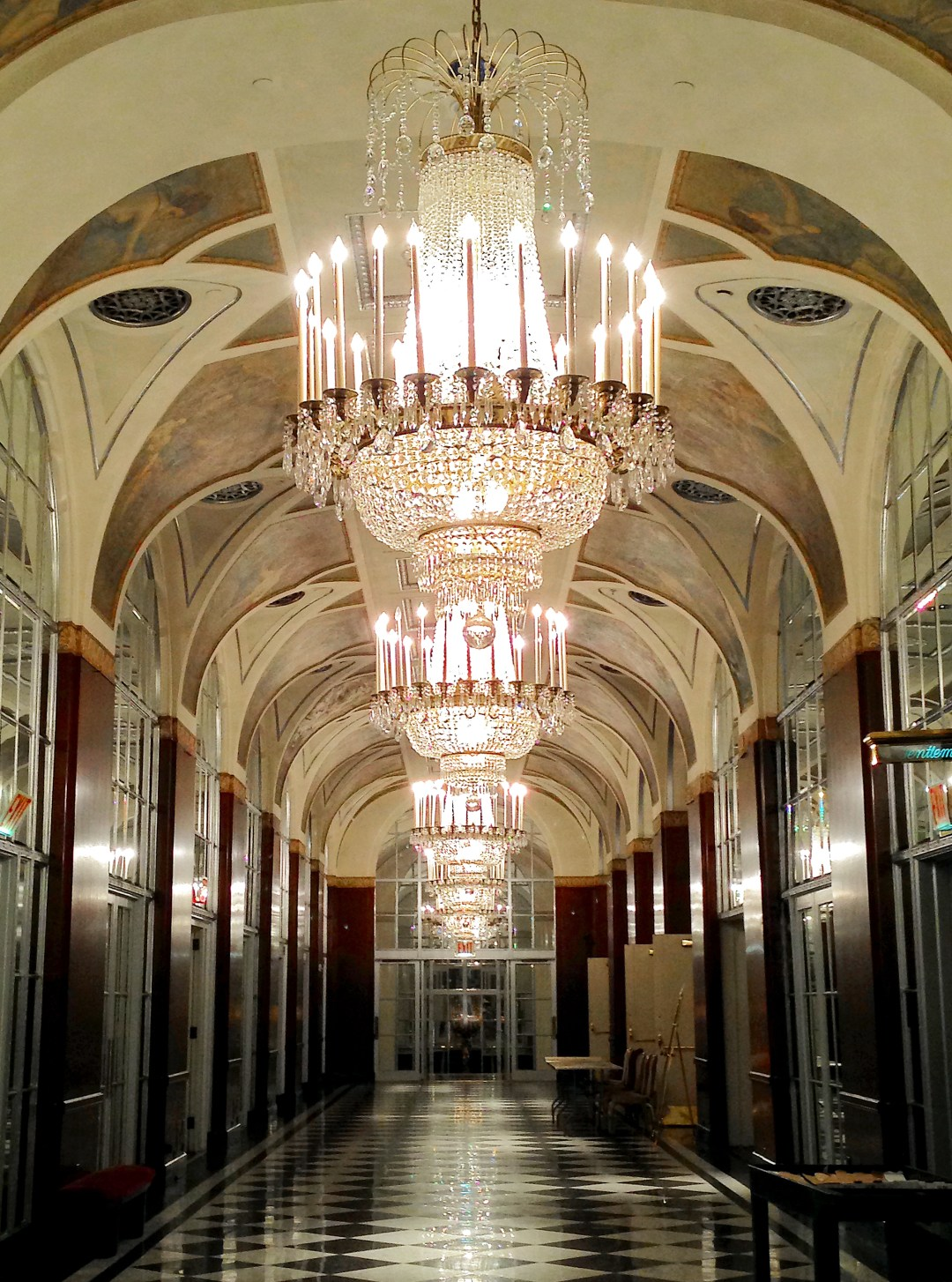 Hall of mirrors in Waldorf Astoria Hotel in NYC