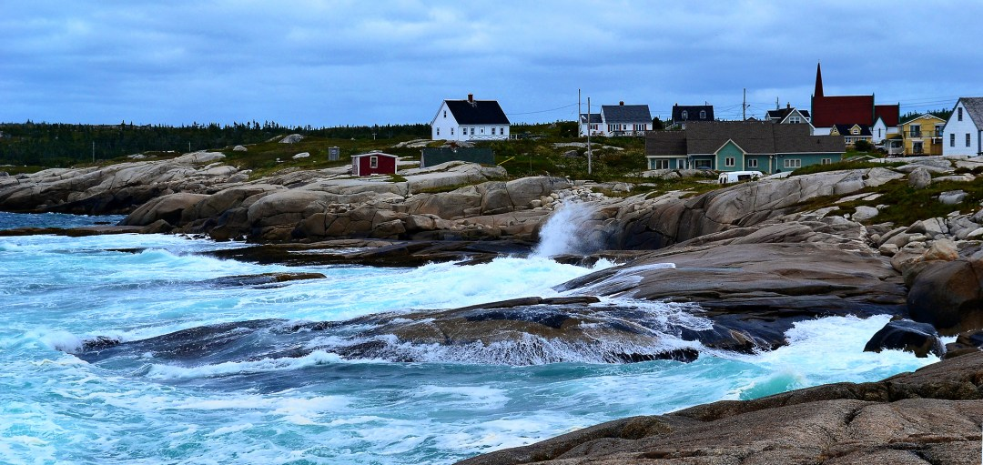 Peggy's Cove village on the ocean