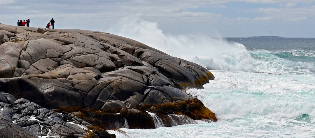Big wave at Peggy's Cove