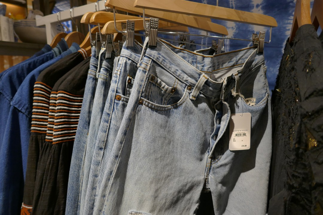 Vintage fly-front jeans at pop-in at Nordstrom