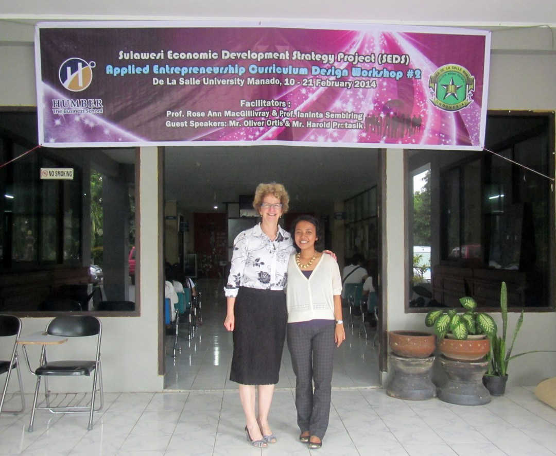 SEDS project banner in Sulawesi