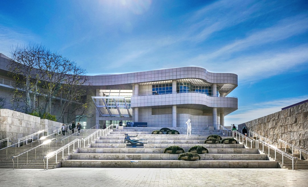 Entrance staircase to the Getty Center for boomervoice