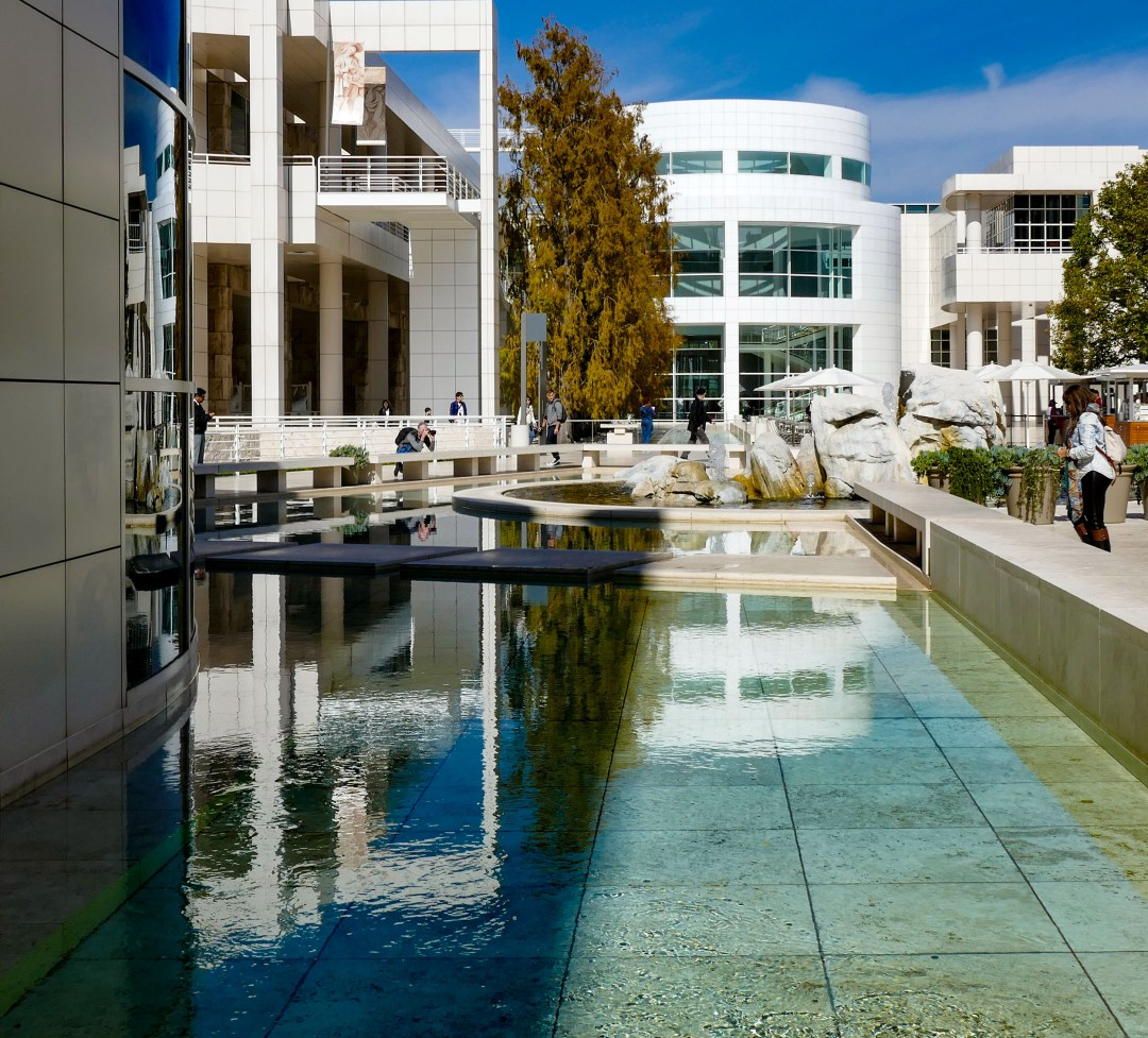 Getty Museum reflecting pool for boomervoice