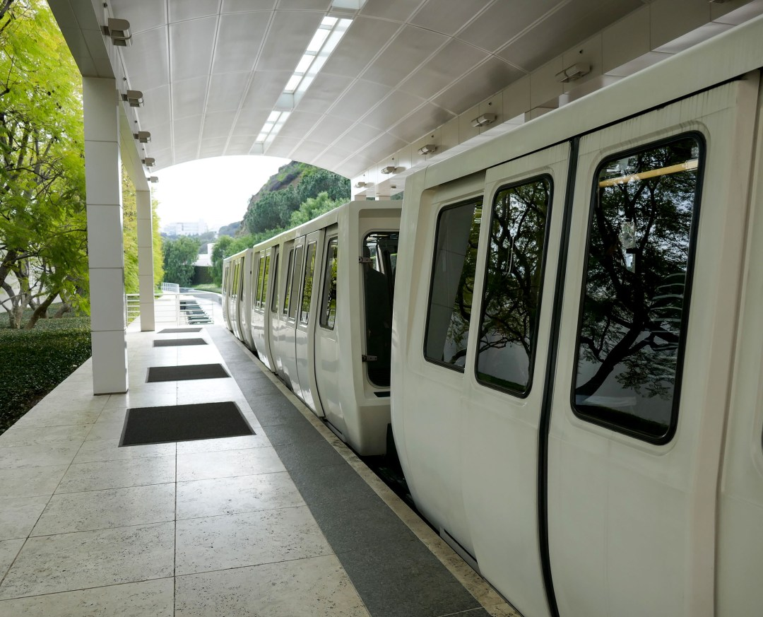 Getty Center monorail for boomervoice