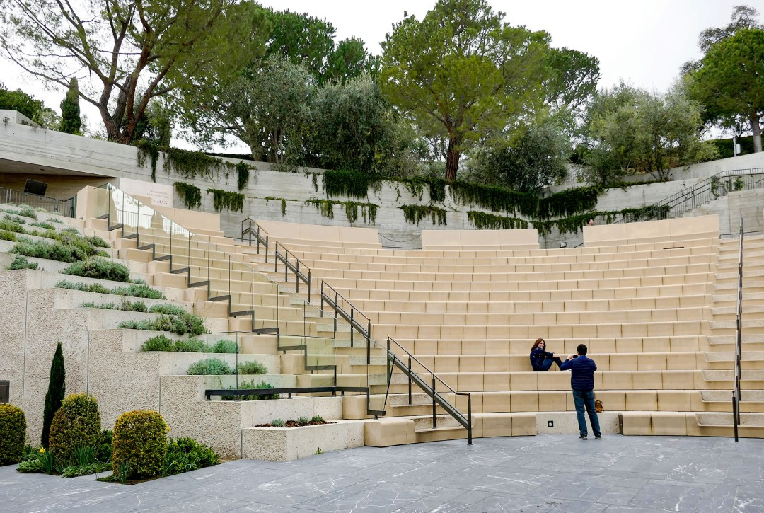 Getty Villa amphitheatre from stage for boomervoice