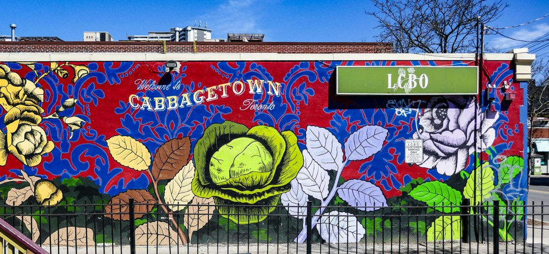 LCBO Welcome to Cabbagetown mural for boomervoice