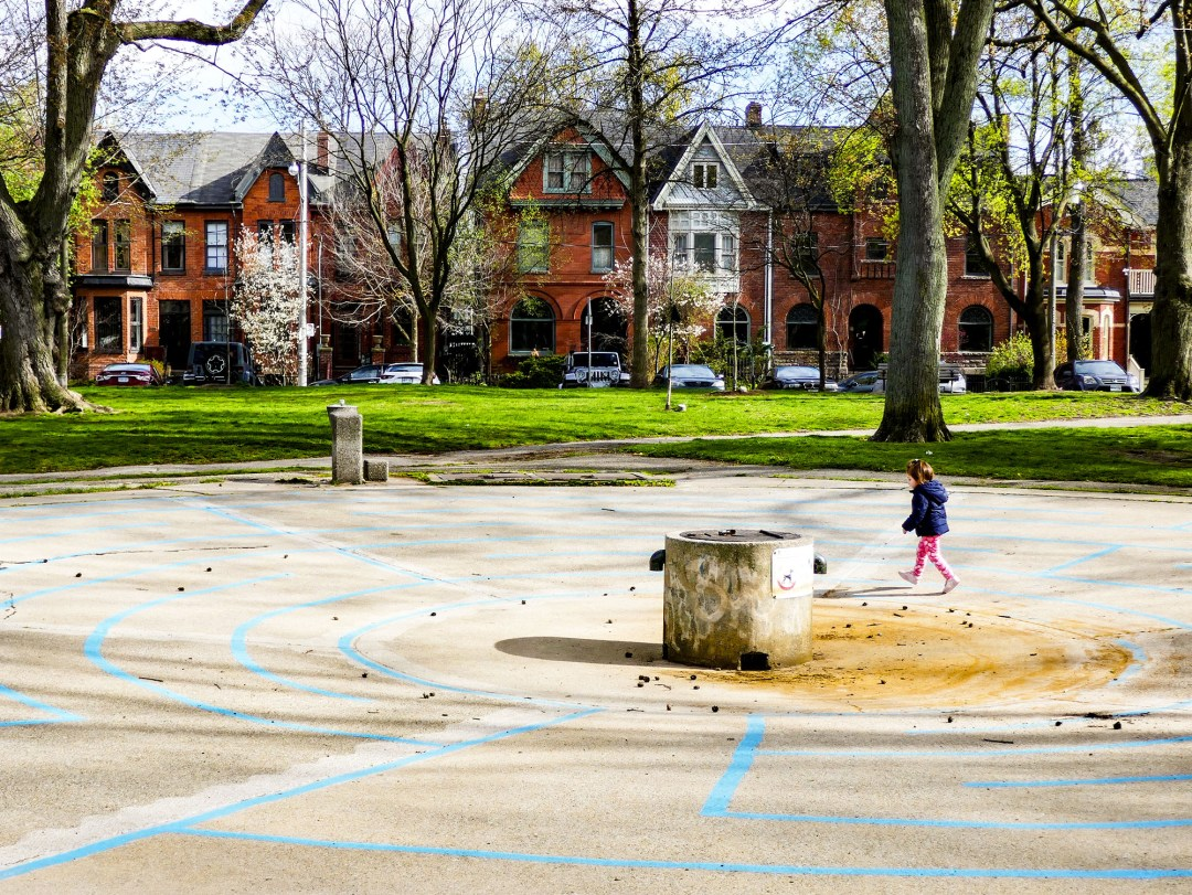 Spashpad in Riverdale Park in Cabbagetown for boomervoice