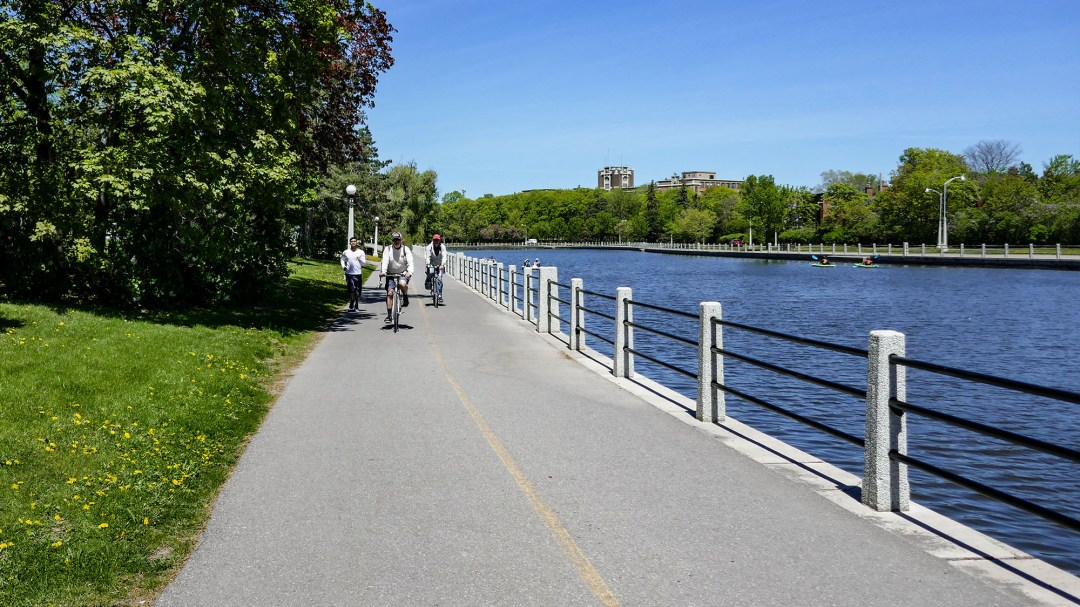 Biking and boating on Rideau Canal for boomervoice